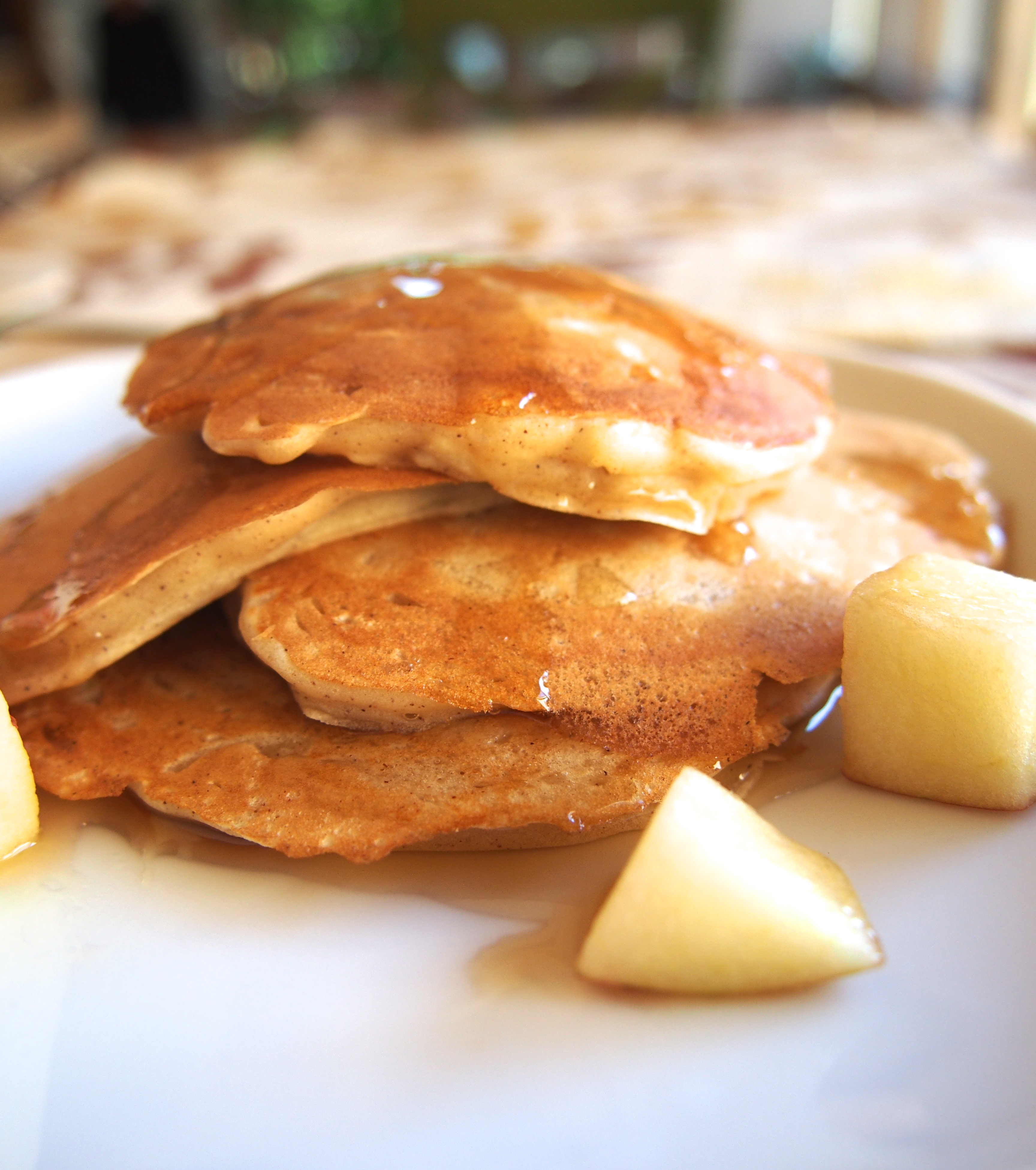 Apple Cinnamon Greek Yogurt Pancakes - Not Your Average College Food