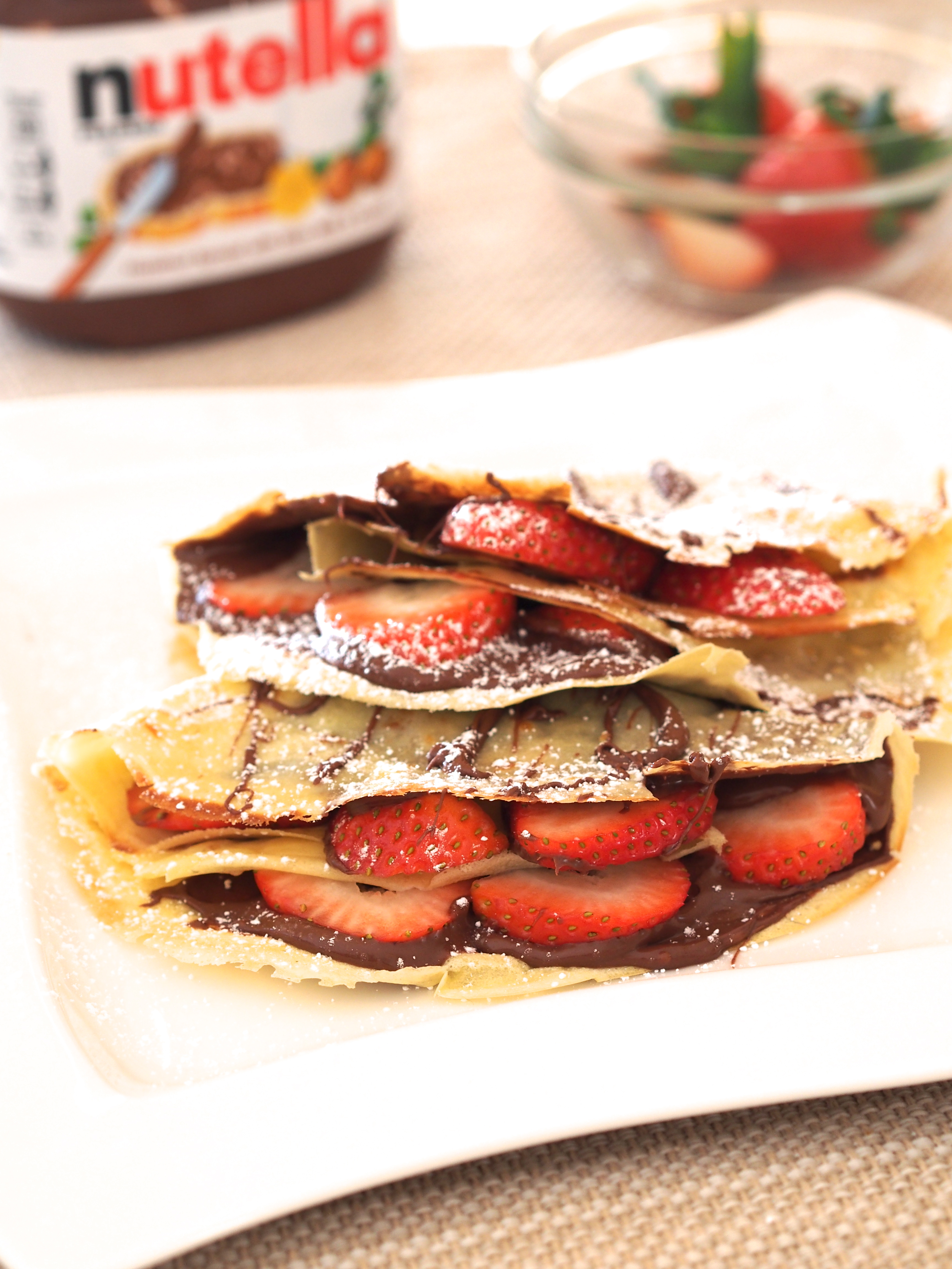 Nutella and Strawberry Crepes - Not Your Average College Food