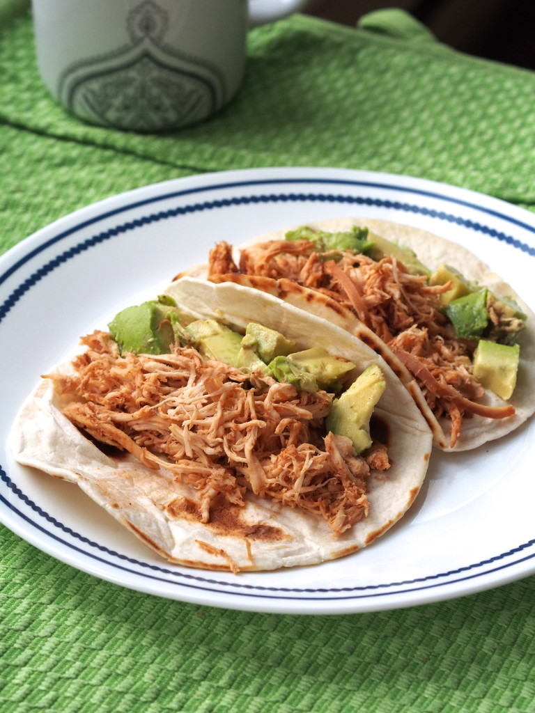 Crockpot BBQ Pulled Chicken Tacos