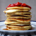 Ricotta Pancakes with Strawberry Compote